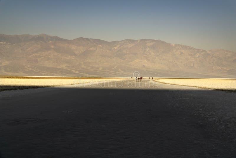 California, Death Valley, cattiva acqua fotografie stock libere da diritti