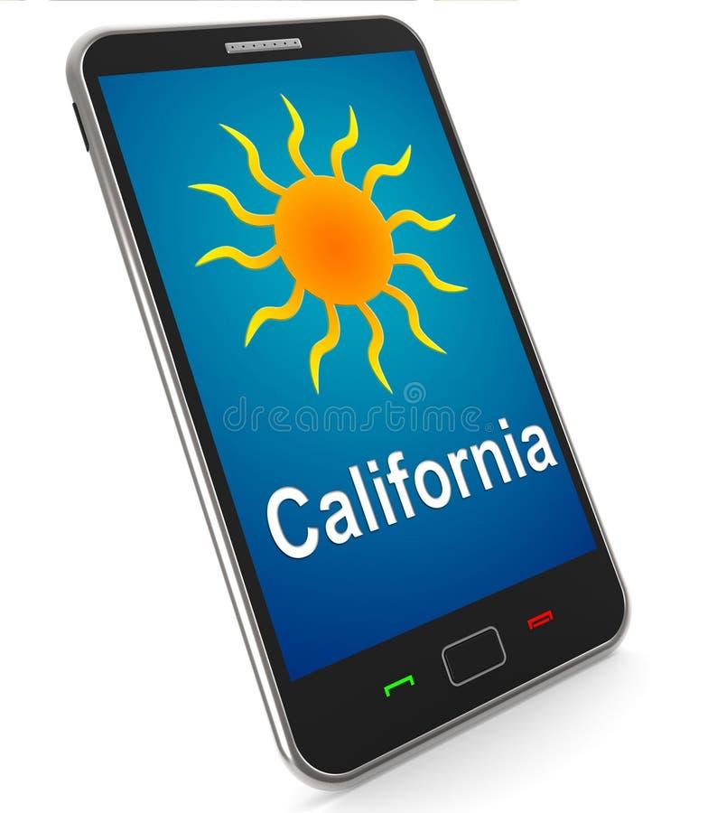 California e Sun sul grande tempo di mezzi mobili nel Golden State illustrazione vettoriale