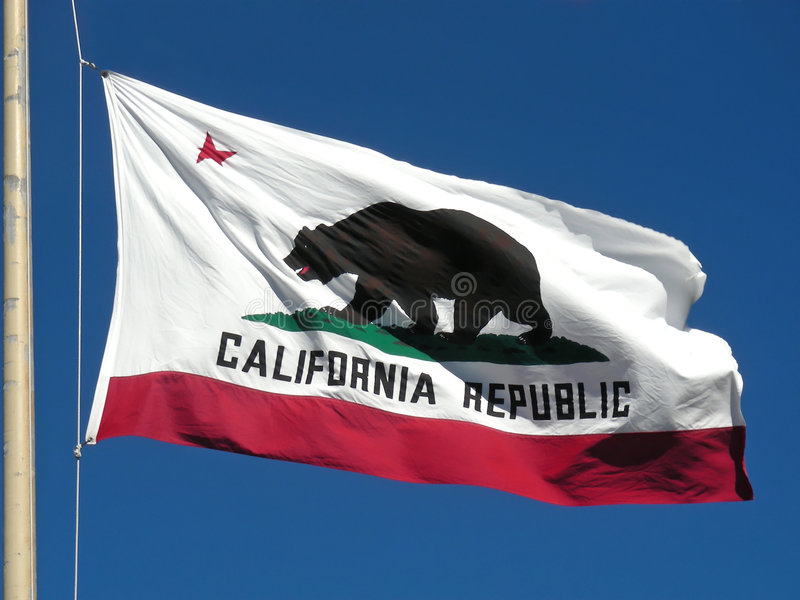 California Flag. The great bear on the California flag stock images