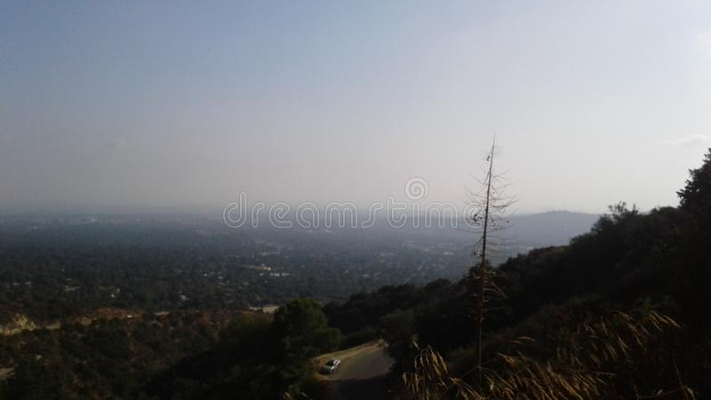 Hazy mountains royalty free stock image