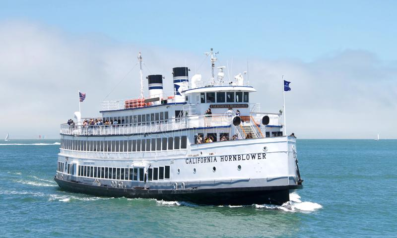 California Hornblower ship in the San Francisco Bay royalty free stock images