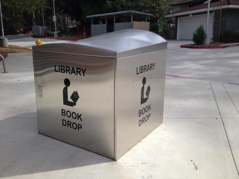 California library book drop box stock images