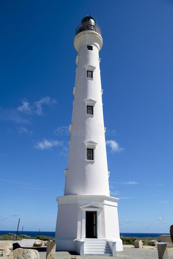 California Lighthouse, Aruba. Calirnia Lighthouse is a famous Landmark of Aruba. Aruba - a tourist paradise - is an island in the Caribbean Sea, Lesser Antilles stock photography