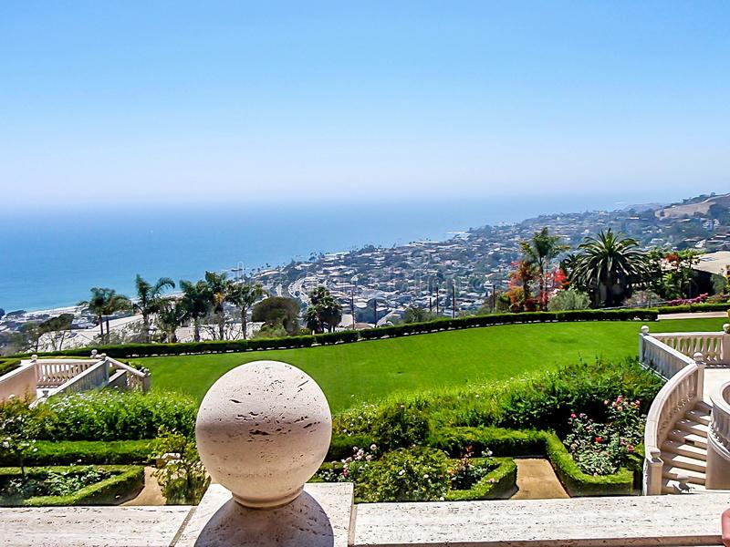 California Mansion on Hill stock photography