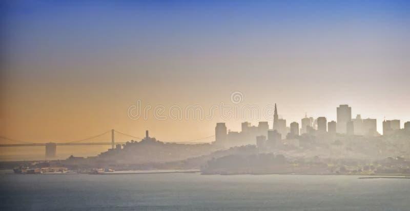california mgły Francisco San linia horyzontu obrazy royalty free