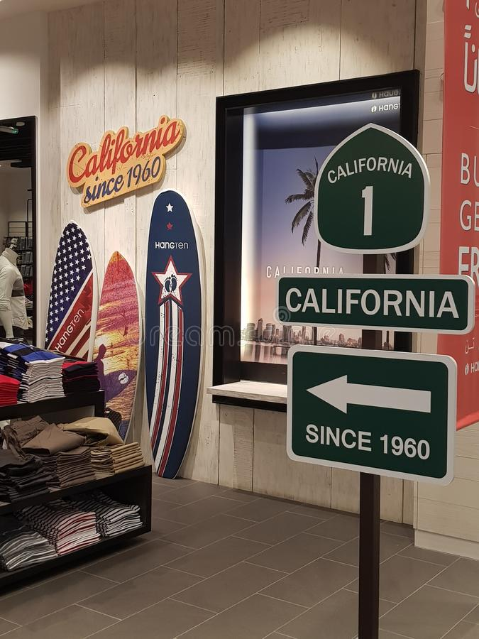 California so near. Favorite place stock photography