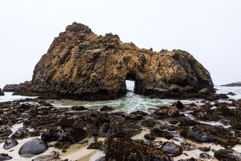 California Pfeiffer Beach in Big Sur State Park stock image