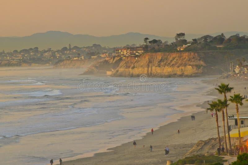 california plażowy zmierzch fotografia stock