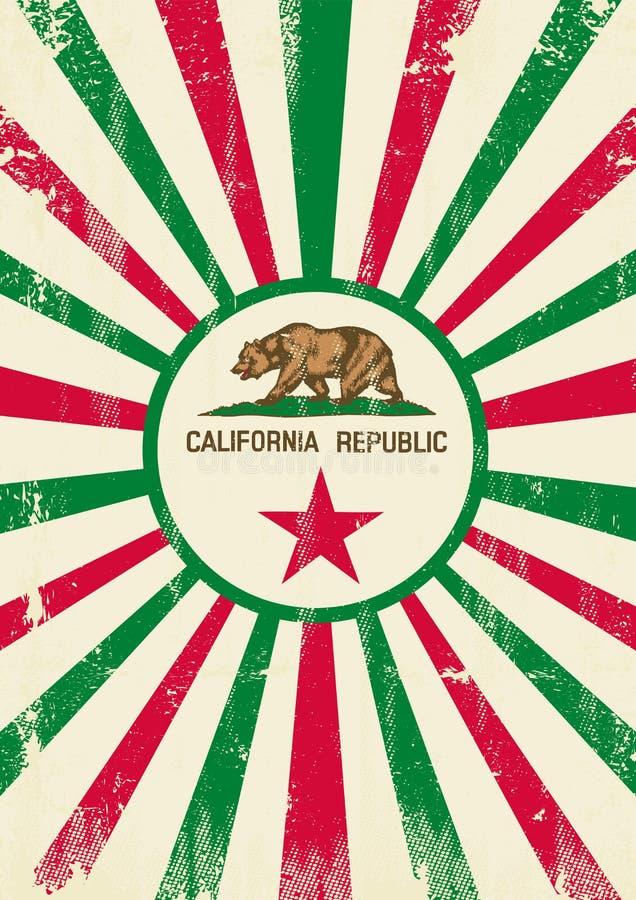 California retro sunbeams poster royalty free stock photography