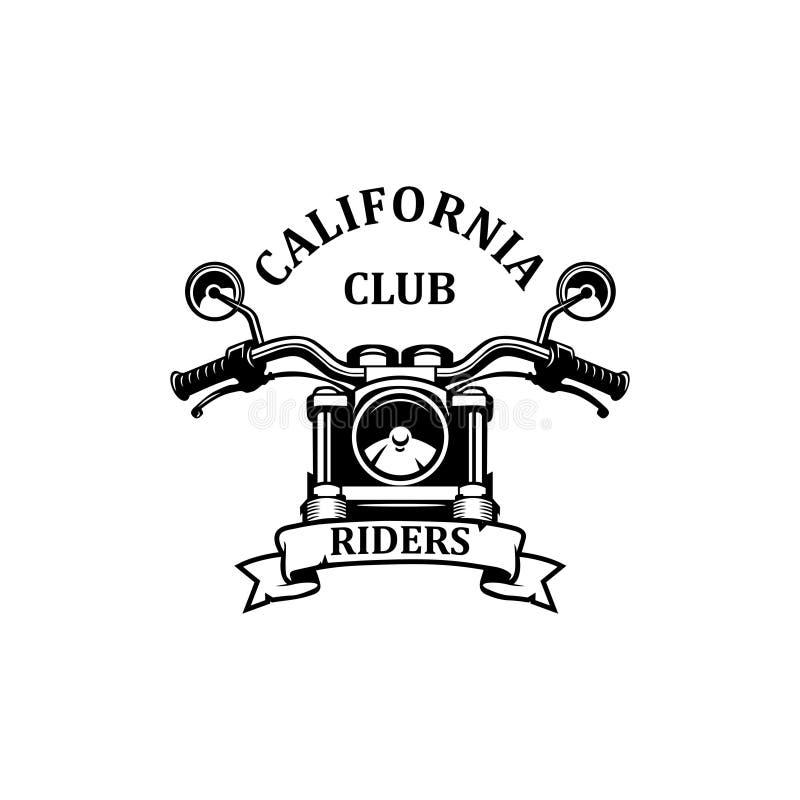 California riders club logo vector. California riders club,motor repair logo vector royalty free illustration