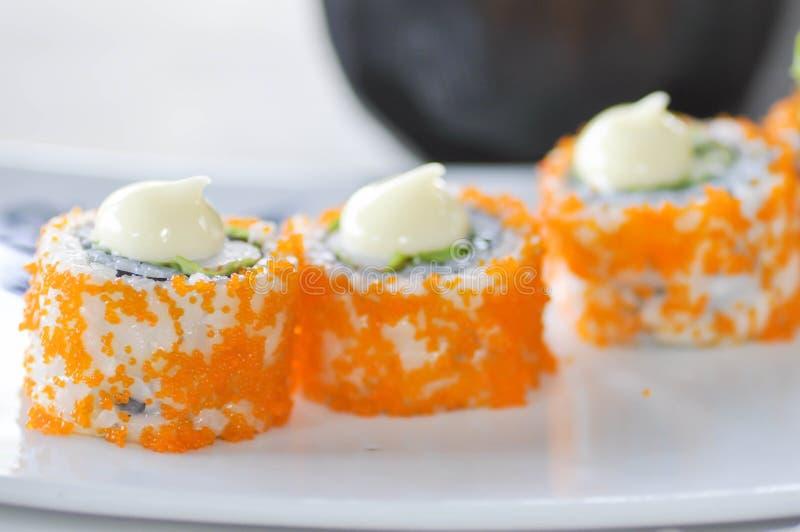 California roll dish, Japanese food stock image