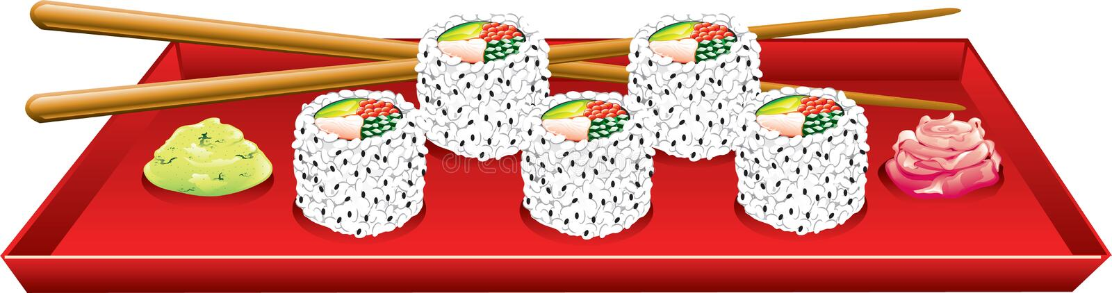 Download California rolls stock illustration. Image of spring - 15904899