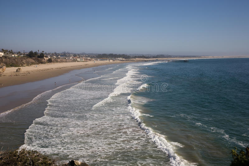 California sand beach. Near Pismo Beach USA stock images