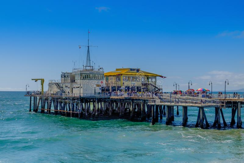 California-Santa Monica Pier-Harbor Office fotografie stock