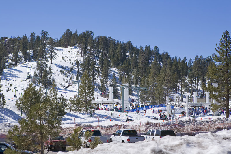California Ski Resort. With sunny skys during Winter royalty free stock image
