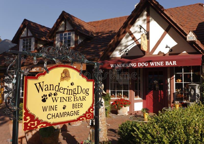 california solvang degustaci wino zdjęcie royalty free