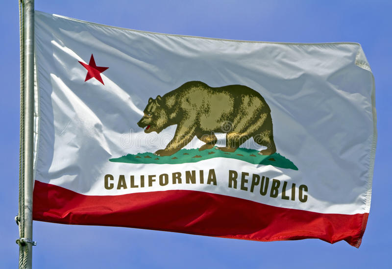 California State Flag royalty free stock photo