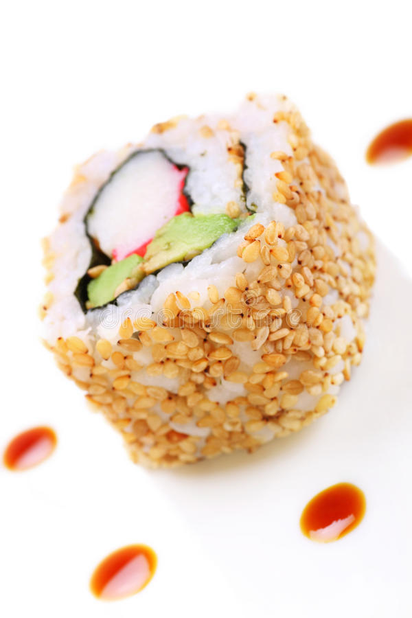 California sushi roll royalty free stock photography