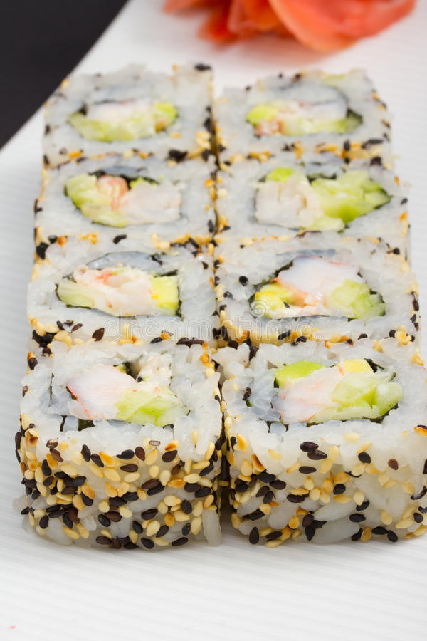 Download California sushi roll stock photo. Image of delicious - 34621884