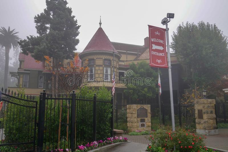 California, USA-December 12,2018:Outside Winchester house is ghost house most famous in California,usa. Mystery, san, jose, architecture, tourism, travel stock photo