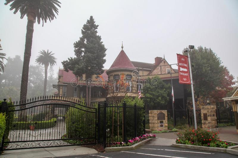 California, USA-December 12,2018:Outside Winchester house is ghost house most famous in California,usa royalty free stock photos