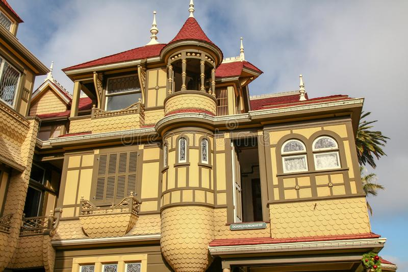 California, USA-December 12,2018:Outside Winchester house is ghost house most famous in California,usa. Mystery, san, jose, architecture, tourism, travel stock photos