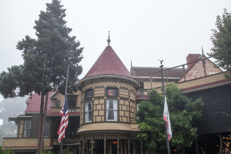 California, USA-December 12,2018:Outside Winchester house is ghost house most famous in California,usa. Mystery, san, jose, architecture, tourism, travel royalty free stock photo