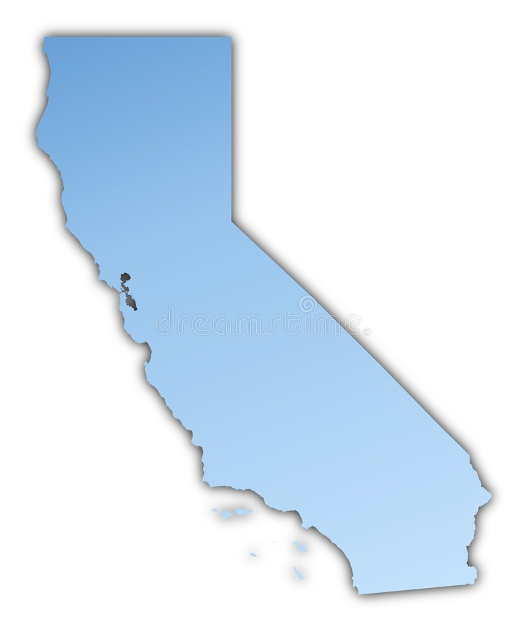 Download California(USA) map stock illustration. Image of detailed - 6633515