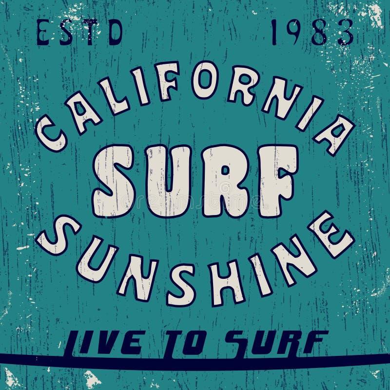 California vintage stamp vector illustration