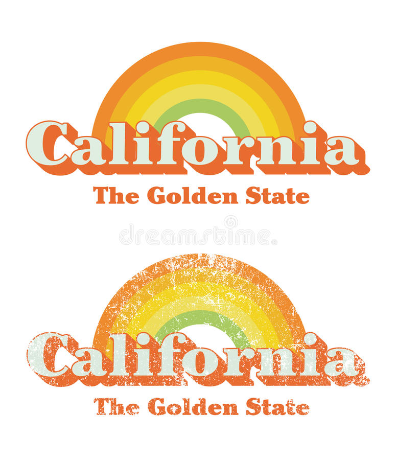 California vintage royalty free illustration