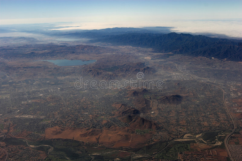 California - vista aerea 2 fotografia stock