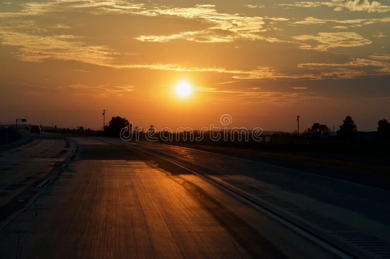 Californian Road Sunset royalty free stock images