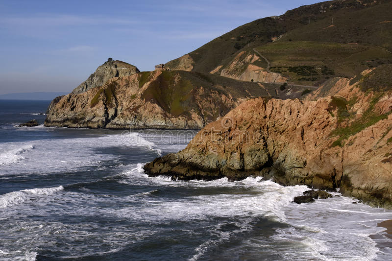 Califroniaweg 1 kustlijn stock afbeeldingen