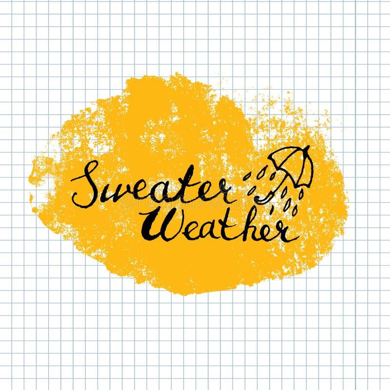 Caligrafía de las letras del tiempo del suéter ilustración del vector
