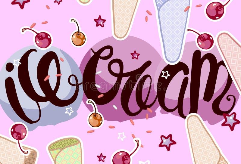 Caligrafía del helado libre illustration