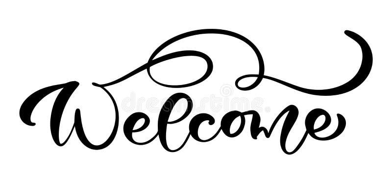 Caligrafía exhausta de la mano del vector que pone letras a la recepción aislada texto Boda manuscrita moderna elegante de la cit stock de ilustración