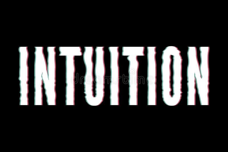Caligrafía gráfica de las letras de la moda de la impresión del vector de la frase de la intuición del lema fotografía de archivo libre de regalías