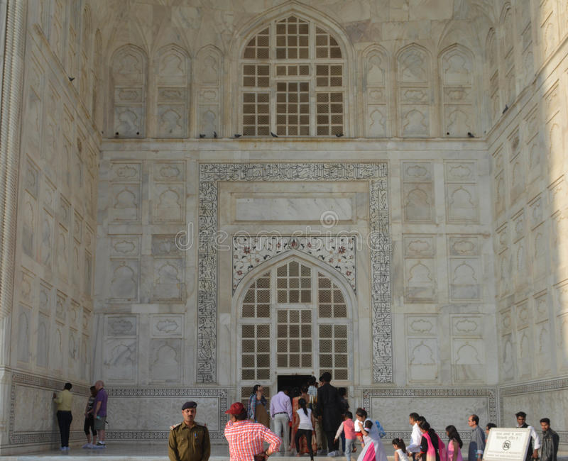 Caligrafia árabe de Taj Mahalimagem de stock royalty free