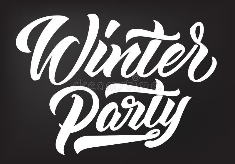 Caligrafia do partido do inverno ilustração stock