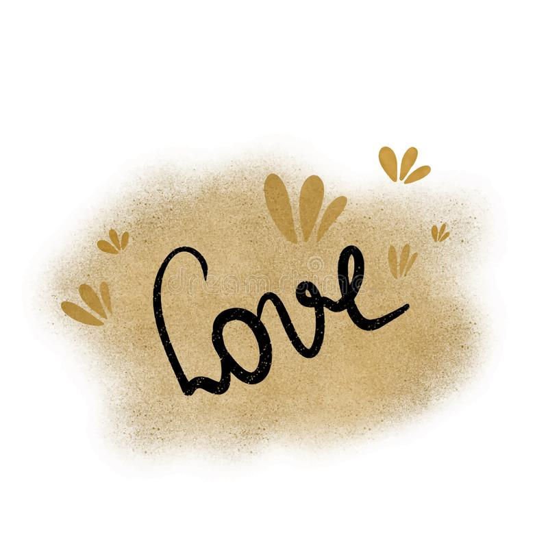 Download Caligraphy Inscription Letters The Word Love On A Beautiful Background Of Shiny