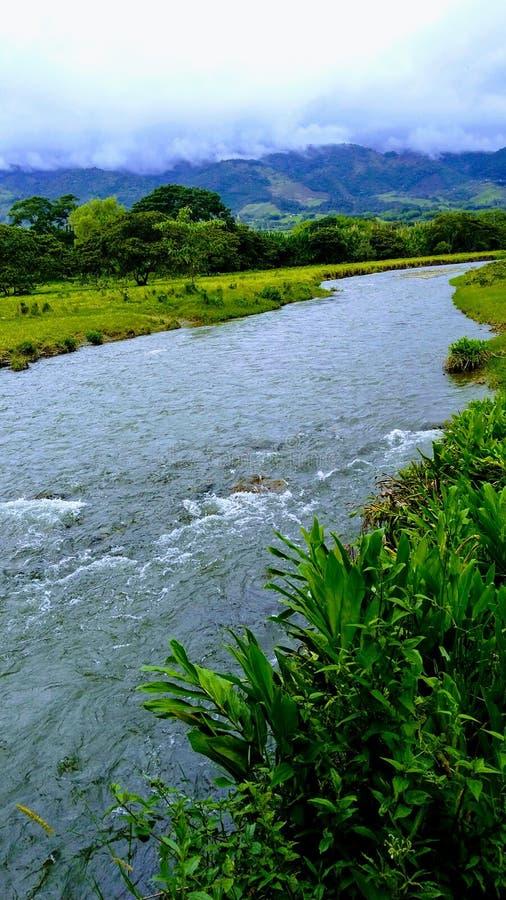 Calima River. Beautiful River In Calima Darien stock photo