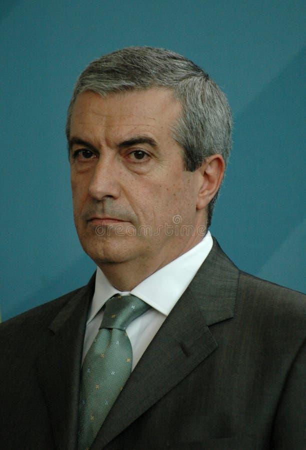Calin Popescu Tariceanu arkivfoton