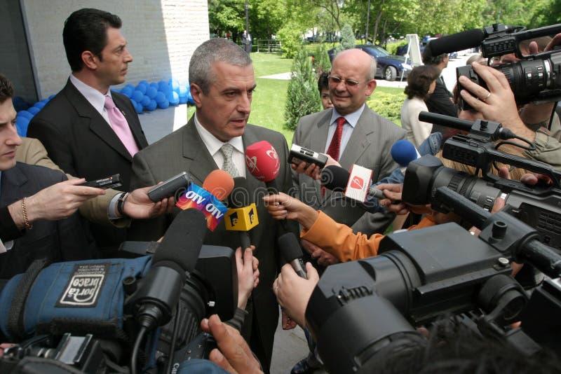 Calin Popescu Tariceanu arkivbild