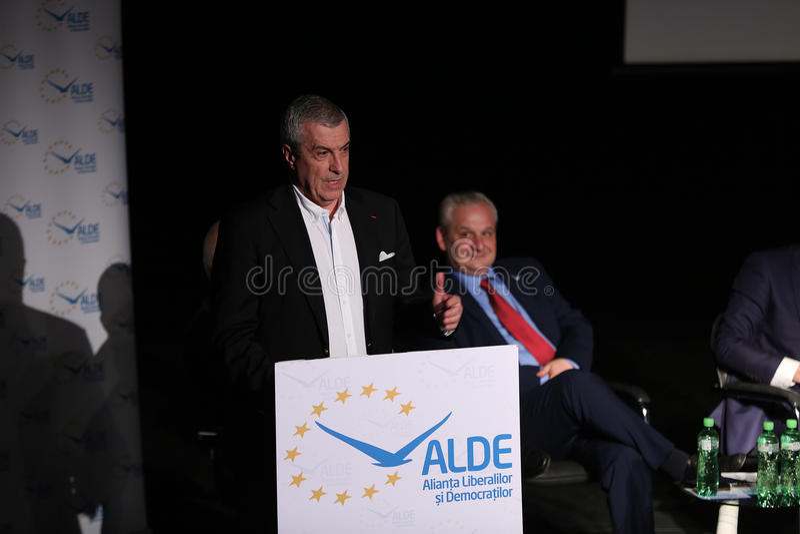 Calin Popescu Tariceanu στοκ φωτογραφία με δικαίωμα ελεύθερης χρήσης