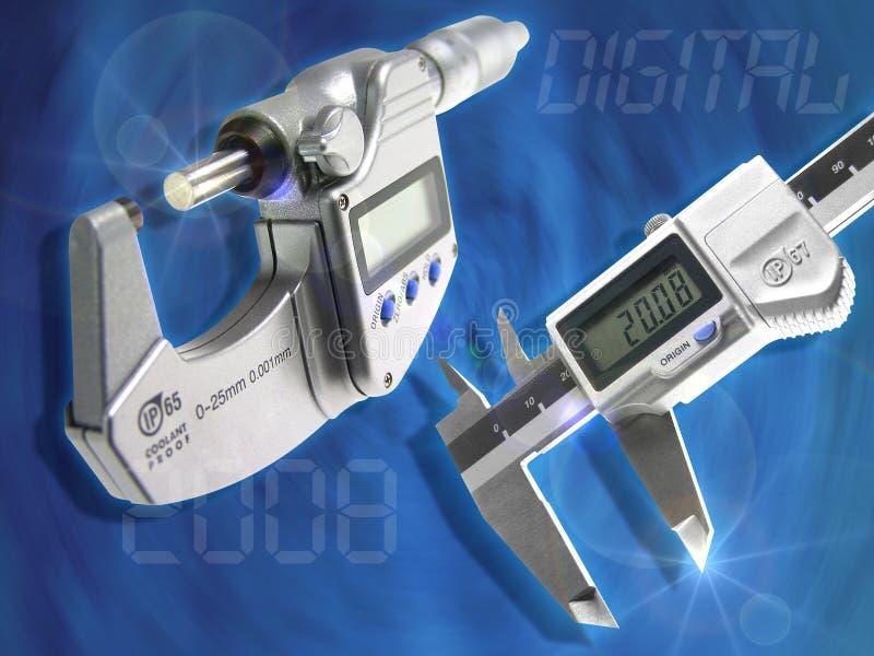 Caliper. The electronic caliper the exact tool on the job stock illustration