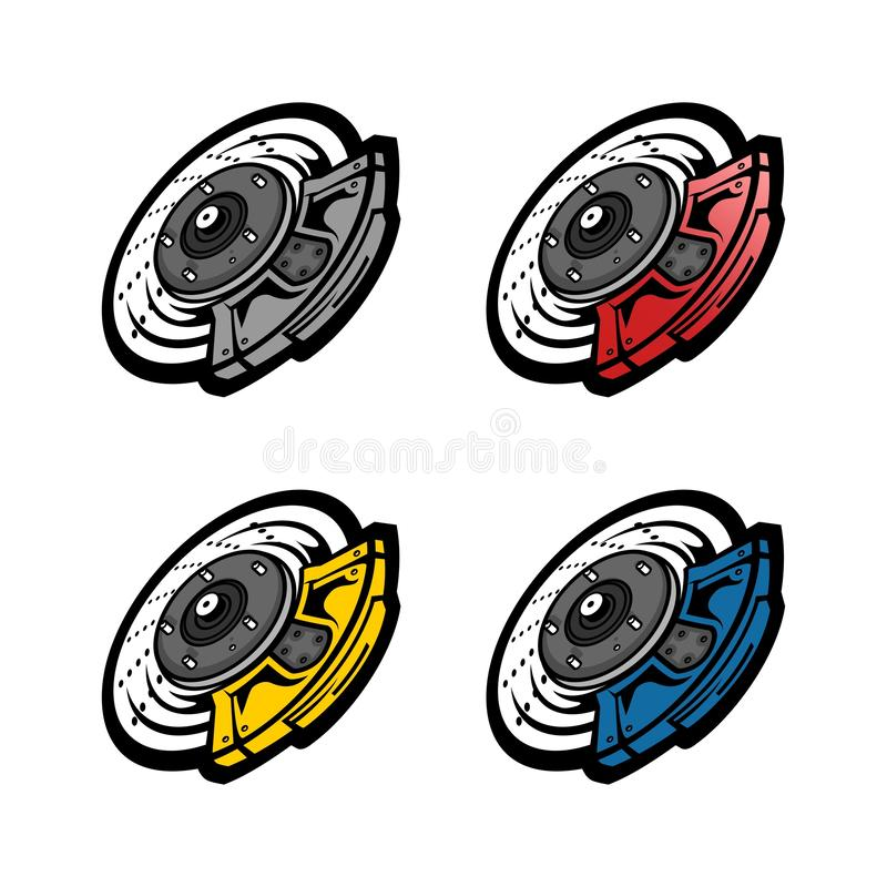 Caliper in colofull. Caliper in colorfull version, you can change the color whatever you want vector illustration