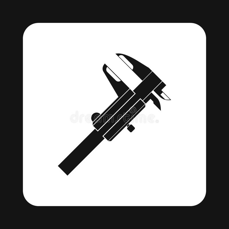 Caliper icon, simple style. Caliper icon in simple style on white background. Tool symbol royalty free illustration
