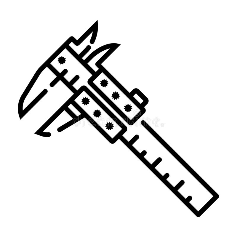 Caliper icon vector. Illustration photo stock illustration