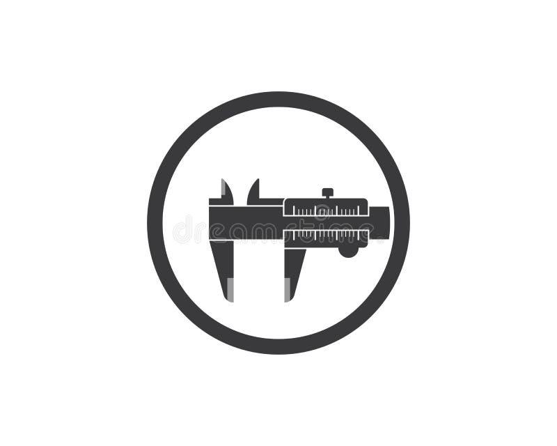 Caliper logo icon vector illustration design. Template stock illustration
