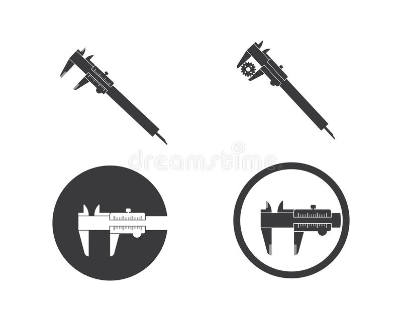Caliper logo icon vector illustration design. Template royalty free illustration